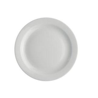 Hvid middagstallerkener i porcelæn inklusiv opvask udlejes i Nordjylland